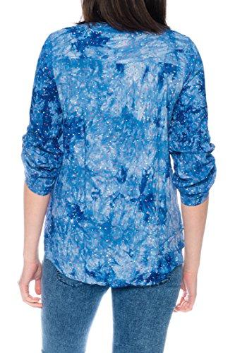 Dress Sheek Damen 3/4 Tunika Oberteil T-Shirt Top Normale und Übergrößen Große Größen Gemustert Lüftig Basic Bluse DS090