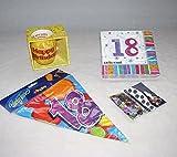 Geburtstag 18 achtzehn Jahre feiern 4er Dekoset Happy Birthday dekorieren kaufen