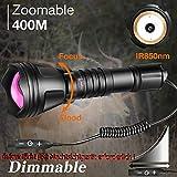 Odepro KL52-IR Zoombare 400m (1312ft) IR850nm Infrarot Taschenlampe mit Dimmbarem Fernschalter