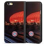 DeinDesign Apple iPhone 6 Leder Flip Case Tasche Hülle FC Bayern München FCB Stadion