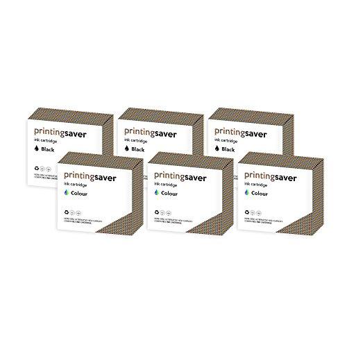 Dell 924 Drucker Tinte (Printing Saver M4640 & M4646 SCHWARZ (3) FARBIG (3) Tintenpatronen kompatibel für Dell All-In-One 924, 922, 944, 964, 942, 946, 962)