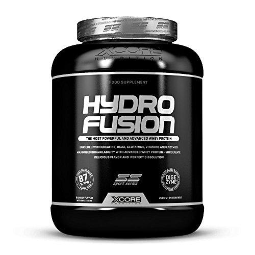 Xcore Hydro Fusion Whey Protéine Poudre 2000 g - Complément au Goût Chocolat Exquis pour Croissance et Récupération Musculaires - Facile à Digérer - 64 Portions