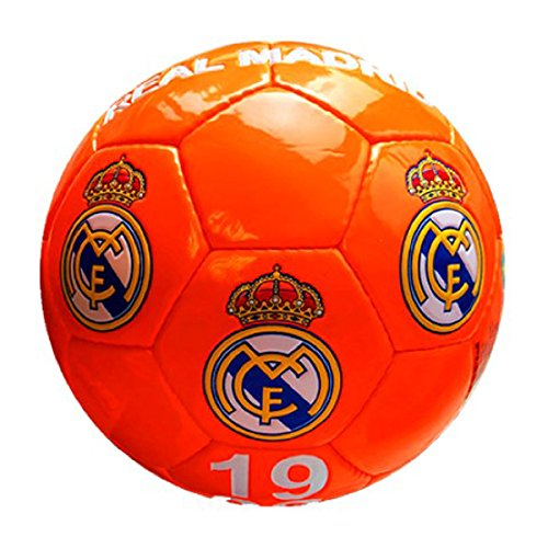 Real Madrid – Gran de balón de fútbol de color naranja fluorescente Real Madrid
