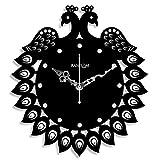 Random Clocks Jewel Peacock Round Wood W...
