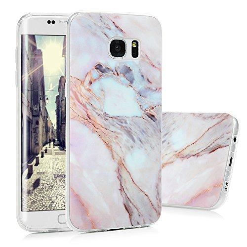 S7 Edge Marmor Hülle, KASOS Marble Handyhülle : Silikon Case Weich TPU Huelle mit IMD Technologie für Samsung Galaxy S7 EdgeJade