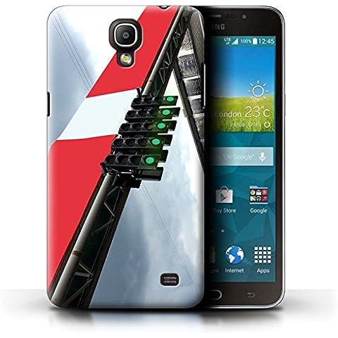 Carcasa/Funda STUFF4 dura para el Samsung Galaxy Mega 2 / serie: Pista Carreras Foto - Inicio Luces Cuadrícula