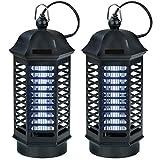 Power-Preise24 Lichtfalle 800 Volt 1 x 4 Watt für 40 m² 2er-Set Elektrischer Insektenvernichter Insektenfalle mit UV-Licht zuverlässige Insektenabwehr Mückenfalle