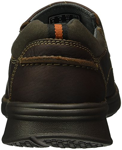Clarks Cotrell Step, Mocassini Uomo Marrone (Brown Oily Leather)
