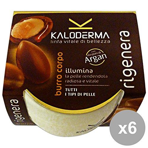 Set 6 KALODERMA Burro Corpo Argan 300 Ml. Cura del corpo