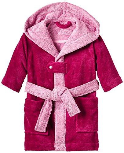 Vossen Mädchen Bademantel Bixie M, Einfarbig - Rosa - in verschiedenen Farben und Größenwählbar