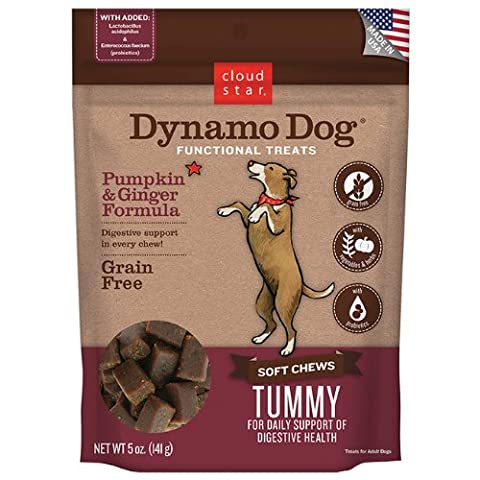 Cloud Star Dynamo Dog Tummy Functional Treat Pouches, Pumpkin and Ginger, 5-Ounce