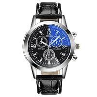 Watches, KEERADS Hot Fashion Men Women PU Leather Analog Wrist Watch Gift (D)