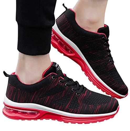 Air Cushion Running Sneaker für Damen Herren TWBB Bequem Beiläufig Mesh Schnürer Luftpolster Sportschuhe Lauflernschuhe Turnschuhe Atmungsaktiv Weichen Fitnessschuhe