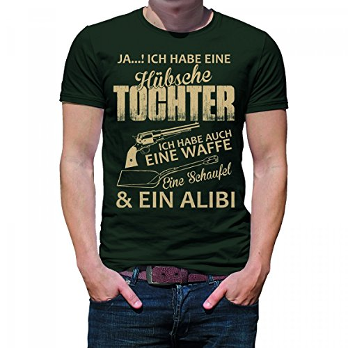 Herren T-Shirt Modell: Hübsche Tochter 03 - khaki