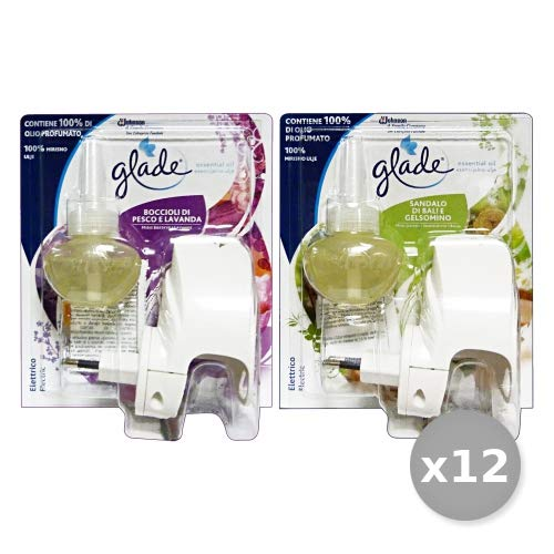 Scheda dettagliata Set 12 GLADE Elettrico Base Essential Oil Deodorante Profumatore Ambiente