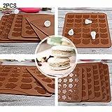 WARM home Zuhause 2 PCS Kitchen Roast Silikon-Backblech zum Backen von Keksen, Größe: 26 * 29cm Geschenk Geben