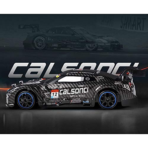 MEILA Fernbedienung Rennwagen Drift Allradantrieb Track 2.4G Lade Wireless RC Car Boy Modell GTR Sportwagen (Color : Black)