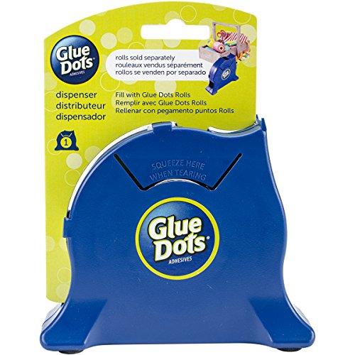 Glue Dots Azul Marino Escritorio dispensador, Material sintético, 15,9x 12,7x 4,1cm