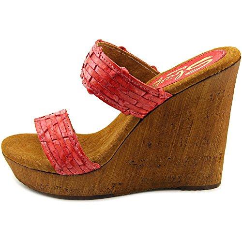 Sbicca Mariana Damen Kunstleder Keilabsätze Sandale Red