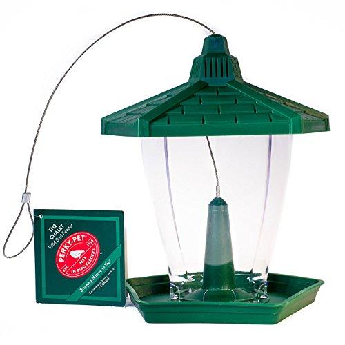 """Opus HF950 Vogelfutterspender """"Chalet"""" für Wildvögel, grün"""