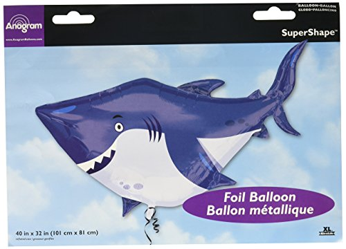 amscan 3377401 24 x 24 Ocean Buddies Shark Super Form Folie Ballons
