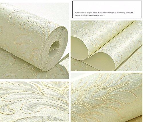 JSLCR Einfache moderne 3D dreidimensionale hohe schäumenden Vlies geprägte Welle Muster Tapete Schlafzimmer Wohnzimmer Teppichboden Tapete,Lila