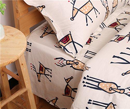 Jungen Twin-bettwäsche Lange Extra Für (memorecool Haustierhaus Kissenbezüge 1Stück Cartoon Elk auf gestreiftem Hintergrund 100% Baumwolle 48,3x 73,7cm, baumwolle, flat sheet, Queen)