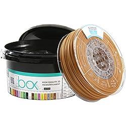 Avistron mini 500gr PLA 1.75mm 3D Drucker Filament Minirollen verschiedene Farben innovative Verpackung (Gold)