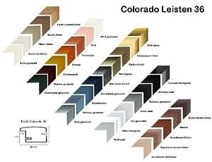 Colorado cadre photo mDF v 32 x 40 cm couleur :  mélange de bleu fONCE essuya antireflet avec panneau arrière-verre acrylique