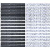 Mehrondo 30 Stück Filzstreifen Rohlinge FS203HDG, Dunkelgrau sowie Hellgrau 300x30x3 mm vorgeschnitten — ideal zum kreieren von Schlüsselanhänger und Schlüsselband