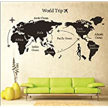 DIY, viajes, mundo, mapa, imprimir, desmontable, Vinilo, paredes, sala, Sticker