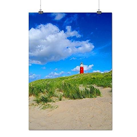 Ocean Light Tower Nature View Matte/Glossy Poster A3 (42cm x 30cm)   Wellcoda
