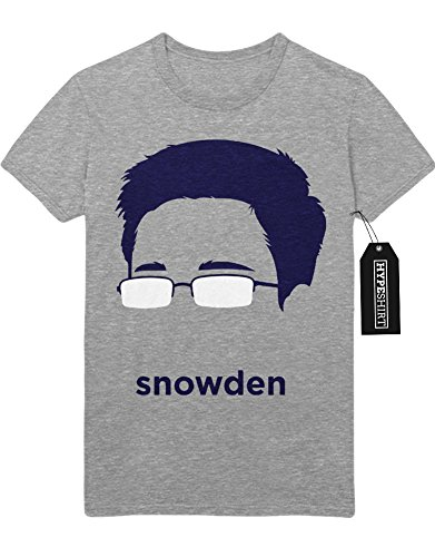 "T-Shirt Edward Snowden ""GLASSES"" D750207 Grau"
