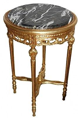 Barock Beistelltisch Rund Gold ModY16 73 x 47 cm Antik Stil