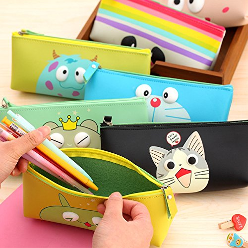 Cartoon Eye Pouch Stationery Pen Case Portable Cosmetic Makeup Toiletry Bath Storage...