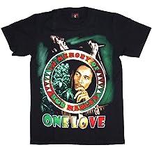 T-Shirt Bob Marley Baumwolle Premium Qualität beidseitig Siebdruck erhältlich in den Größen M und L