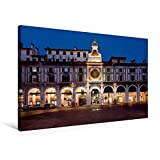 Premium Textil de lienzo 45cm x 30cm Brescia–Horizontal, Reloj Torre y Loggia Edificios, 75x50 cm