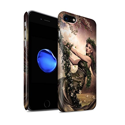 Officiel Elena Dudina Coque / Clipser Matte Etui pour Apple iPhone 8 / Balançoire Étang Design / Un avec la Nature Collection Balançoire Jardin