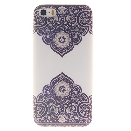 Apple iPhone 5/5S/SE Silicone Coque, Yaking (3 in 1) Silicone TPU Case Cover Gel Étui Housse pour Apple iPhone 5/5S/SE avec 1 X Stylet + 1 X Strass Bouchon Anti-Poussière P-10