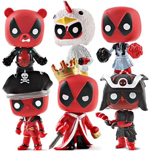Modelo Pop! Modelo de Personaje de película de Anime (6 Piezas) Deadpool King Deadpool Pirate Modelo de Deadpool