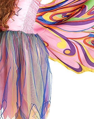 85 Dress, Fly-Away-Kleidchen, Fairy Rainbow, Regenbogenfee, S 4-5 YRS ()