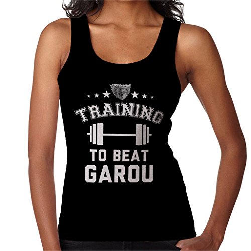 Training to Beat Garou One Punch Man Womens Vest Black