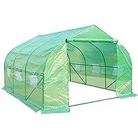 HOMCOM Outsunny - Invernadero caseta 350 x 300 x 200 Jardin terraza Cultivo de Plantas semilla