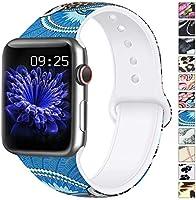AK Cinturino Compatibile per Apple Watch Cinturino 44mm 42mm 38mm 40mm, Cinturino Sport in Silicone Cinturino Uomo e...
