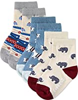 [Free Shipping]Vaenait Baby 1-7 Years Kids Boys 3 Pairs Non-Skid Socks with Grips Set L