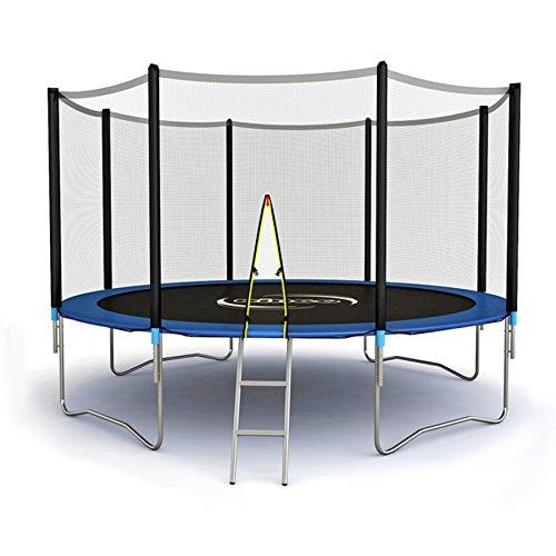 Xylo Gartentrampolin 3,65m (365cm) Trampolin Komplettset mit Netz und Leiter Outdoor