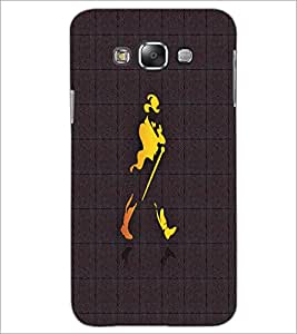 PrintDhaba Jhony Walker D-4858 Back Case Cover for SAMSUNG GALAXY E7 (Multi-Coloured)