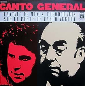 Canto general - Cantate de Mikis Théodorakis sur le poème de Pablo Neruda - disque EMI n° C 066-13006