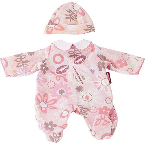 Götz 3402931 Babyanzug Bunte Wiese - Puppenbekleidung Gr. S - 2-teiliges Bekleidungs- und Zubehörset für Babypuppen von 30-33 cm