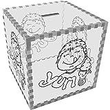 Azeeda Groß 'Yum Eis' Klar Sparbüchse / Spardose (MB00029779)